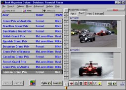Organizer for Formula1 enthusiasts.